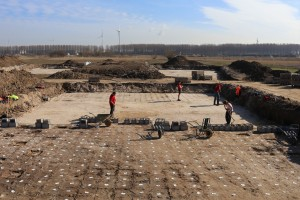 De opgraving van een archeologische site uit de steentijd in Verrebroek © BAAC Vlaanderen